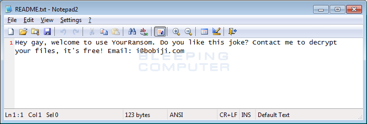 YourRansom ransom note