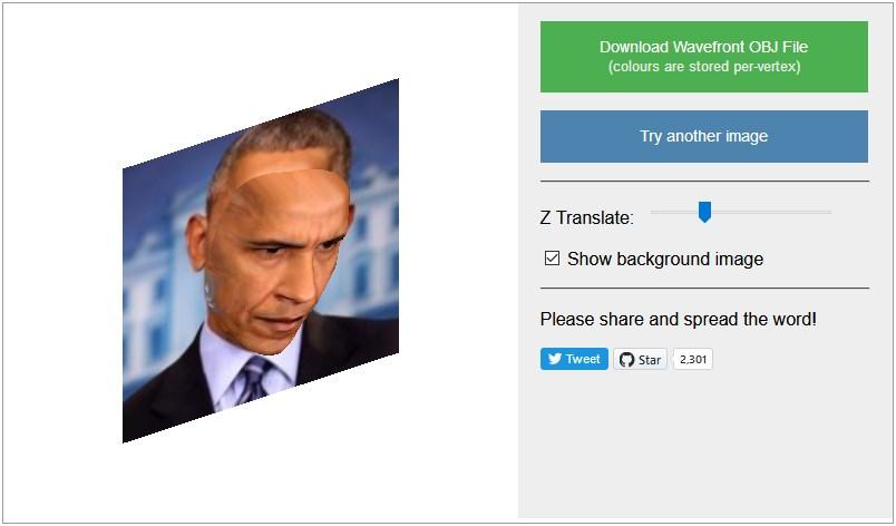 Obama's 3D face