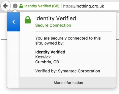 Chrome browser showing EV data for a fake company