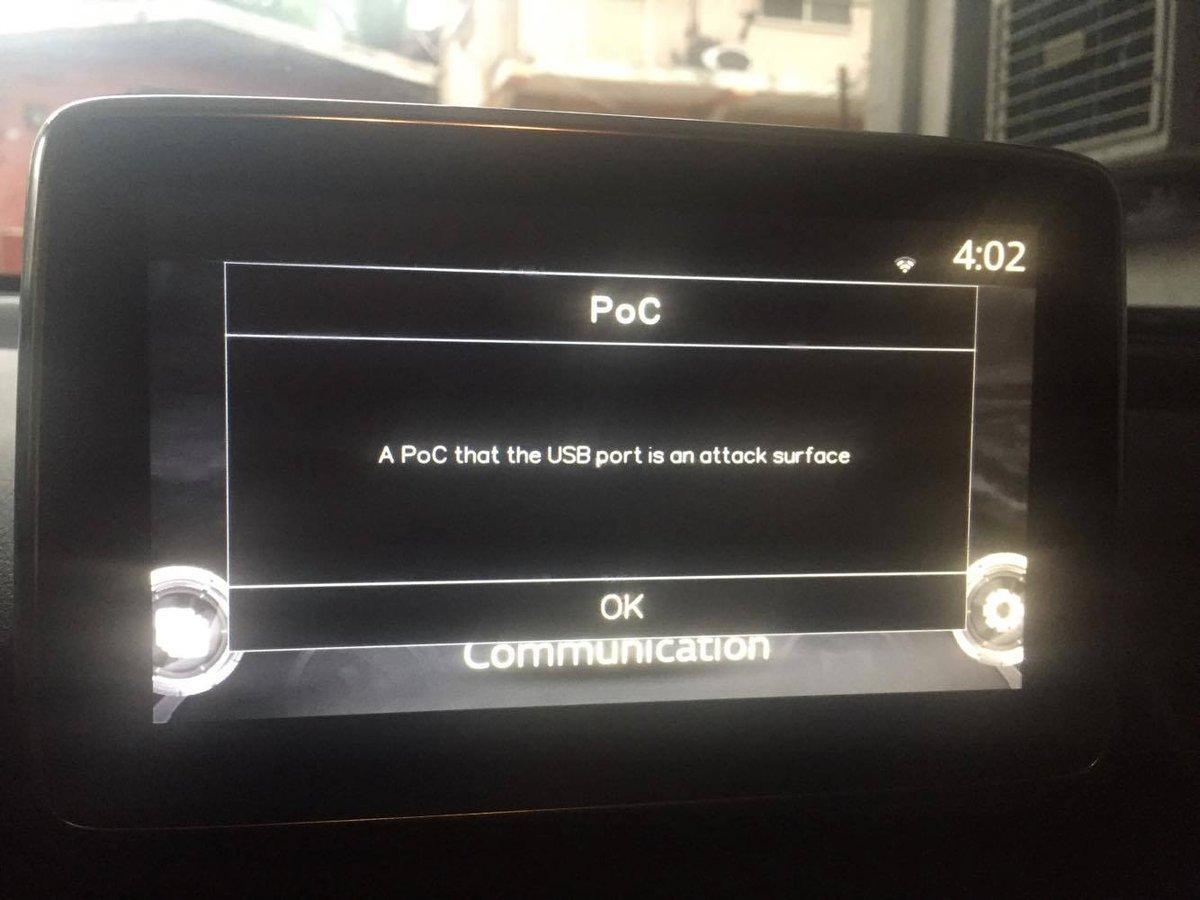 Mazda CMU dashboard