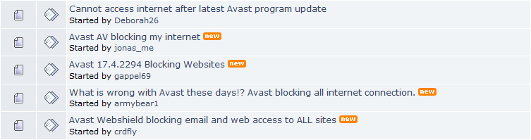 Avast Antivirus Update Blocks Internet Access