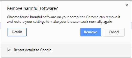 Chrome Cleanup popup