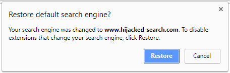 Chrome settings reset