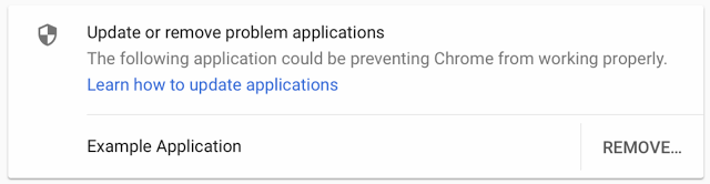 Google Chrome Showing Alerts About Incompatible Applications
