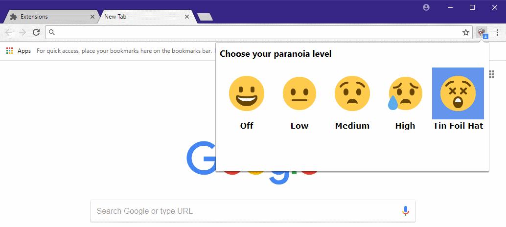 Chrome Zero protection settings