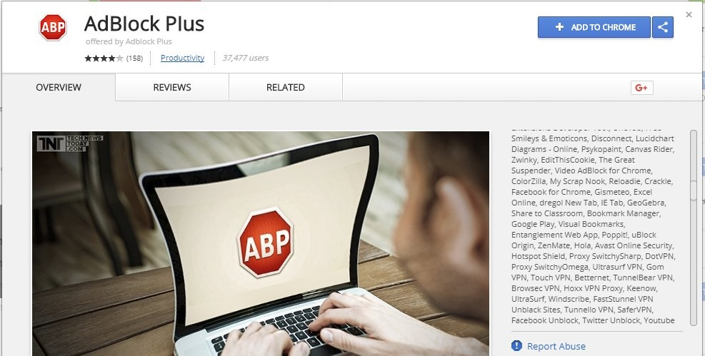 Fake AdBlock Plus extension for Chrome tricks 37000 users