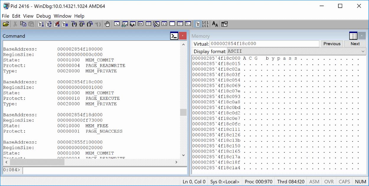 Microsoft Edge ACG bypass