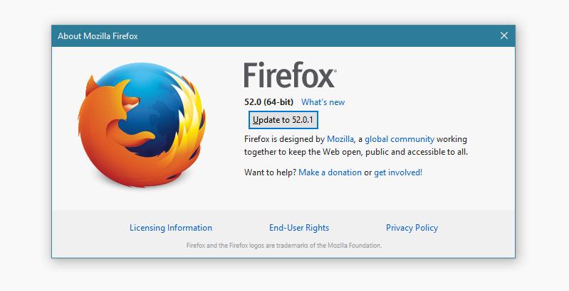 Firefox 52.0.1