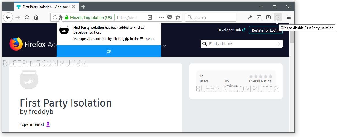 Firefox FPI add-on