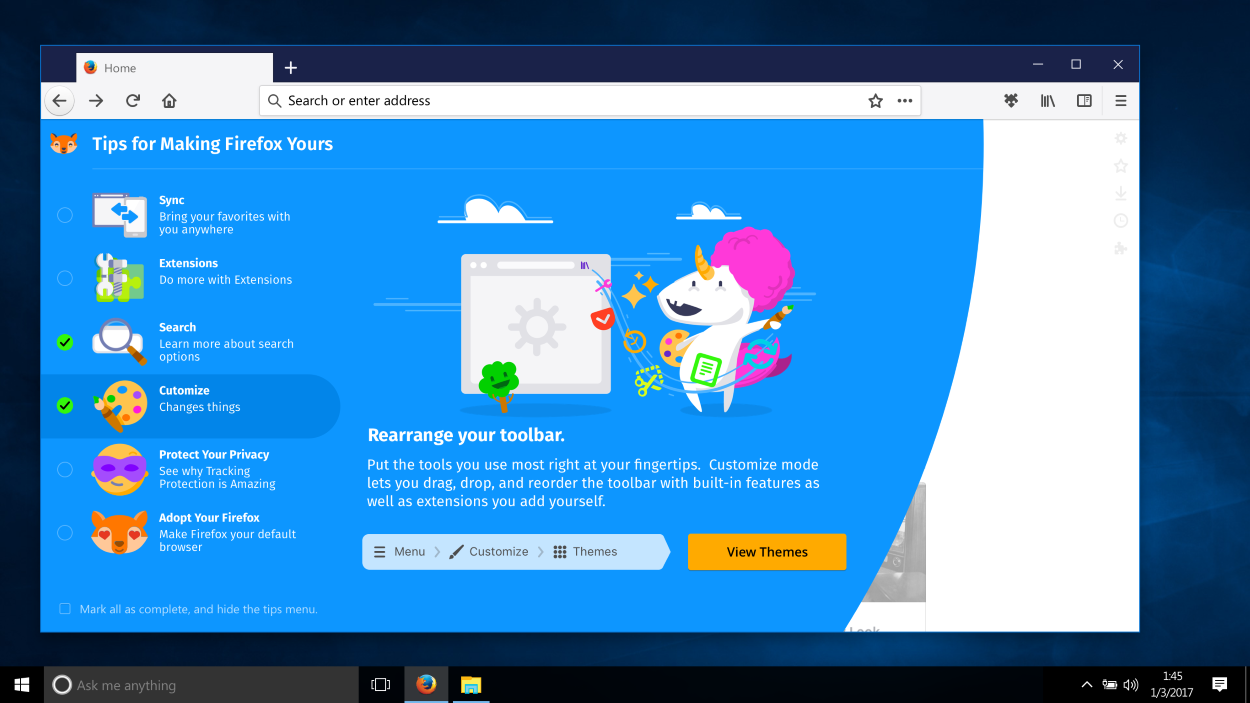 Firefox Photon UI