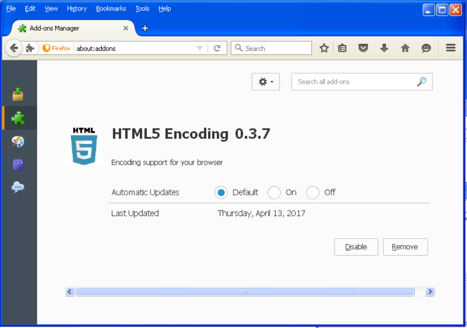 HTML5 encoder Firefox extension