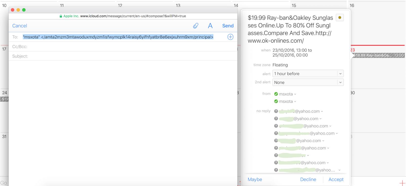 Icloud Calendar.Apple Users Bombarded By Icloud Calendar Spam