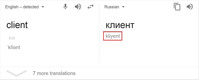 Attackers copy-pasted the phonetic spelling from Google Translate