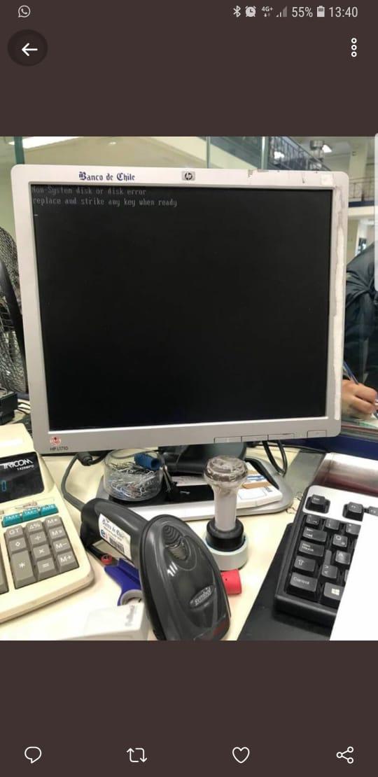 Banco de Chile crashed PC