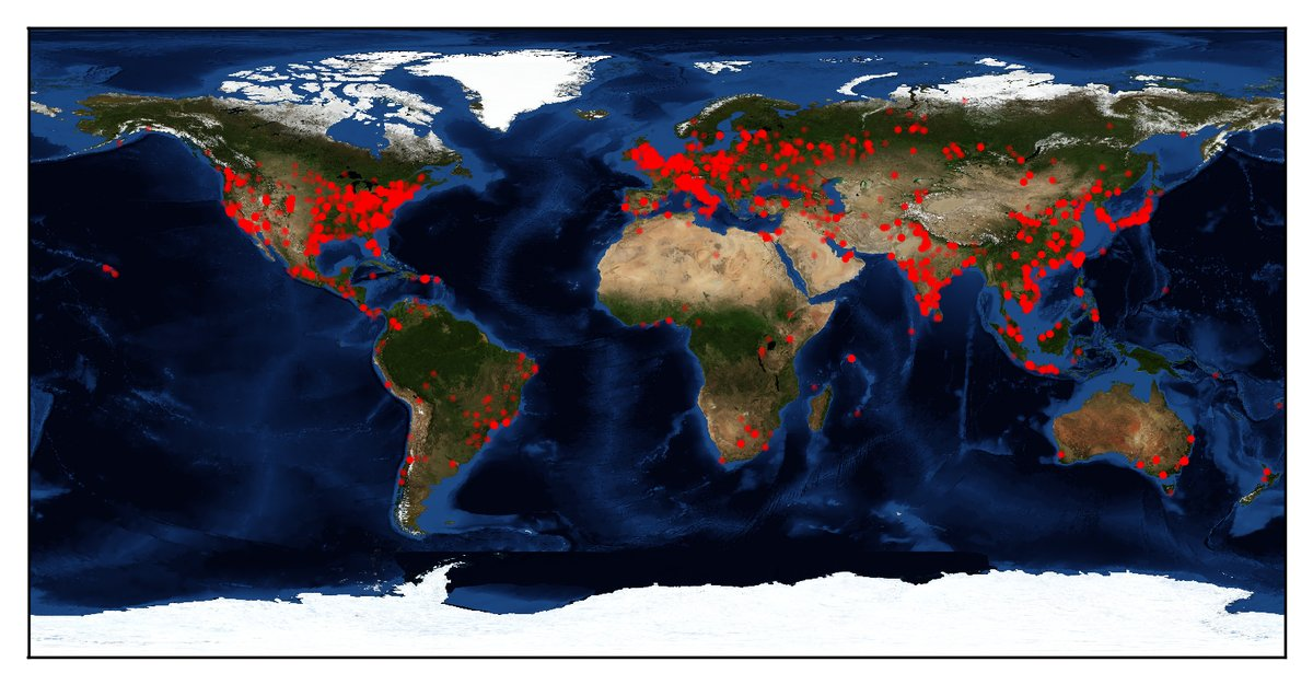 Geographical spread of computers infected with DOUBLEPULSAR