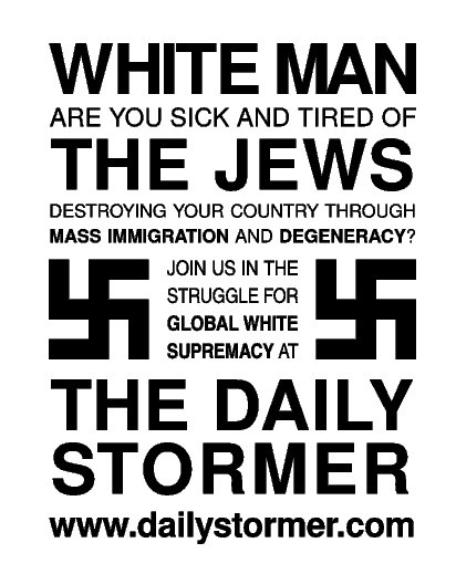 Anti-semitic message sent out by Weev