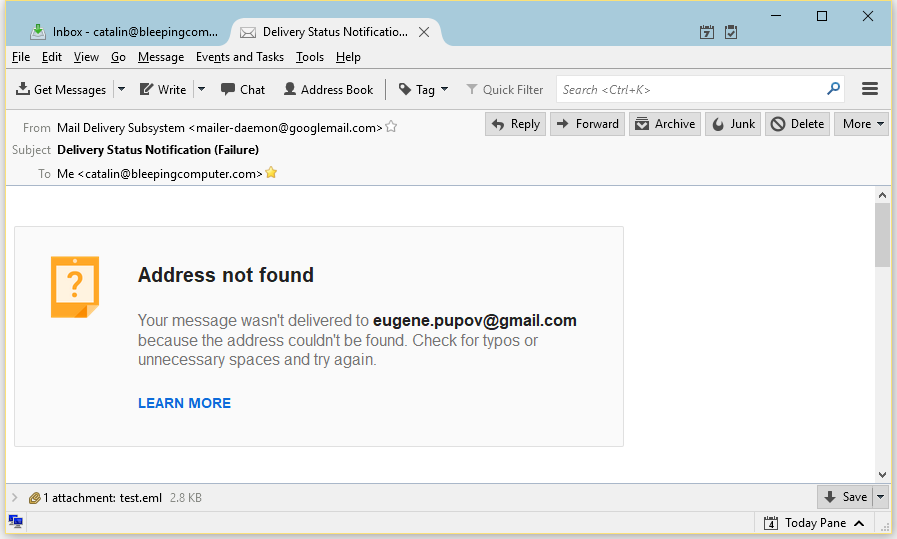 Pupov dead email