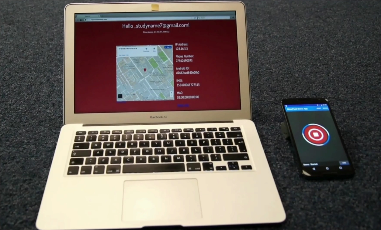 Attack taking place on a laptop running Tor Browser