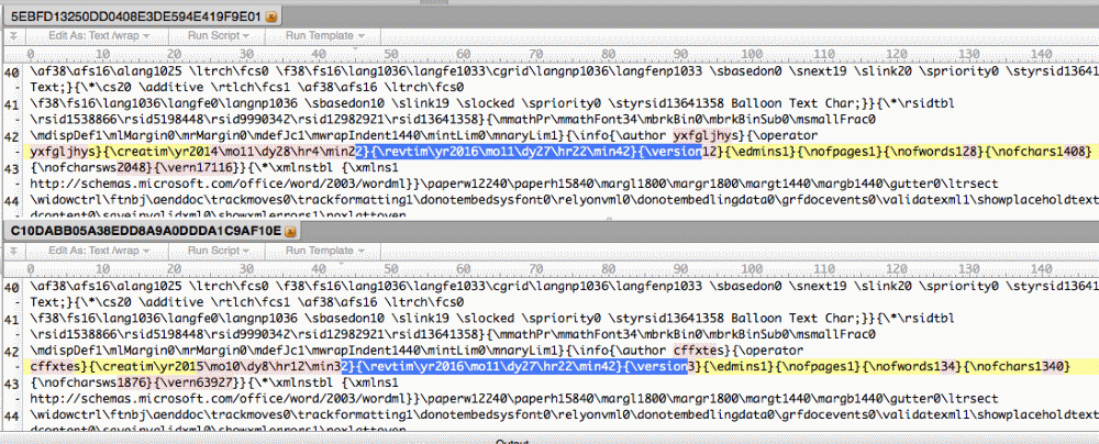 Revision time artifact shared between FinSpy and LatentBot Samples
