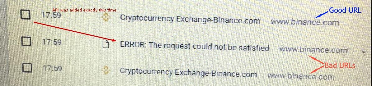 Binance logs