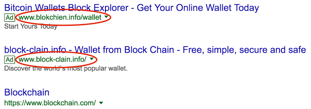 Malicious ads for cryptocurrencies