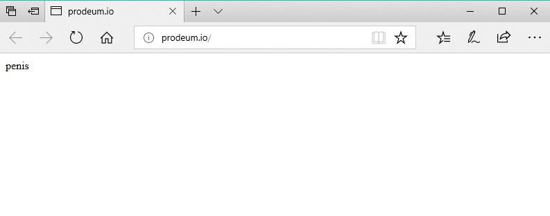 Defaced Prodeum website