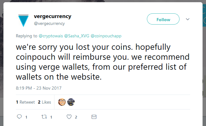 Verge team tweet
