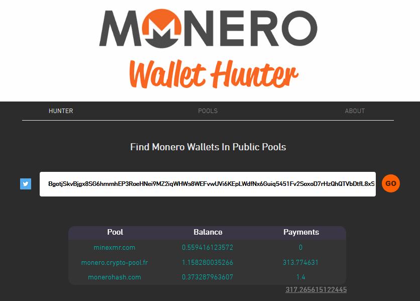 XMR Hunter wallet