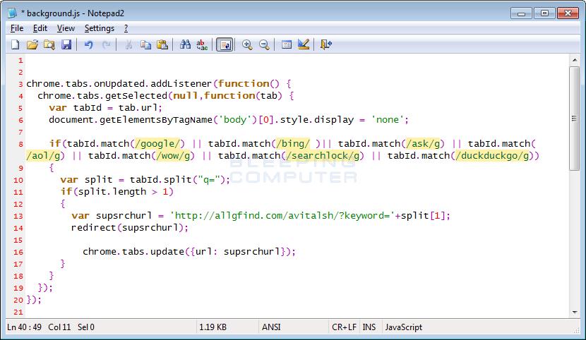 Search Redirect Script
