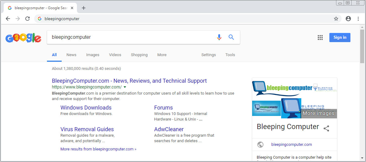 Google Experiments With Showing Search Queries in Chrome 71