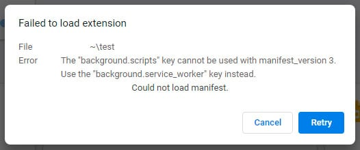 Error when using unsupported APIs