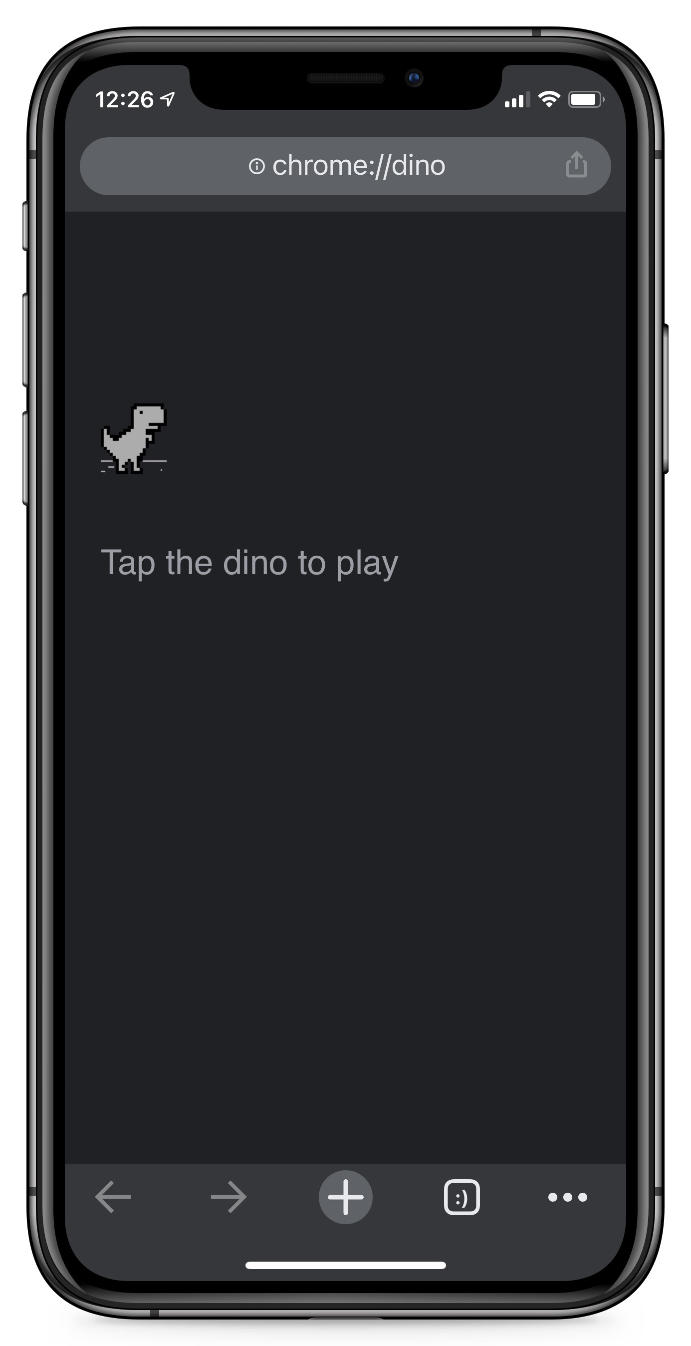 Dinosaur Game in Google Chrome Beta