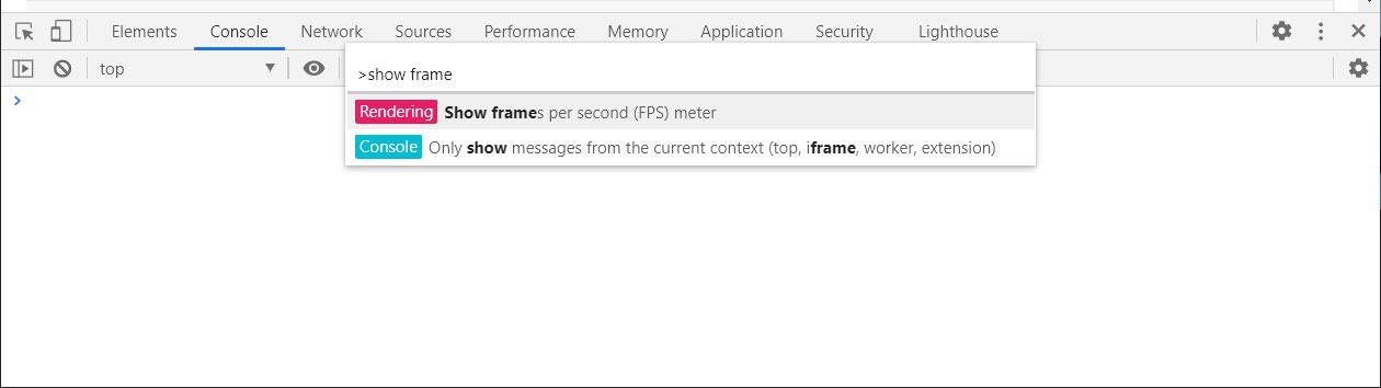 Enabling the FPS Meter in Google Chrome