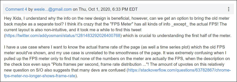 Chrome bug post comment