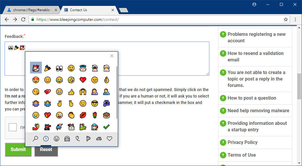Google Chrome Gets Insertable Emojis  Here's How to Enable Them