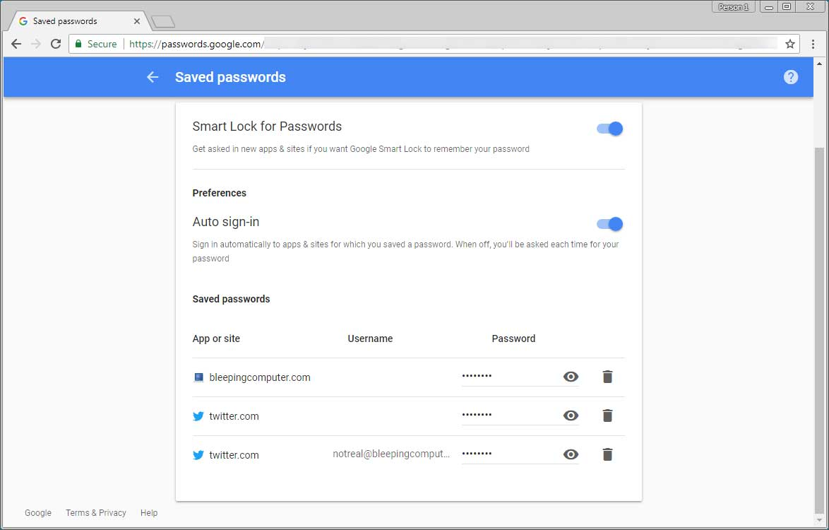 chrome password manager not safe