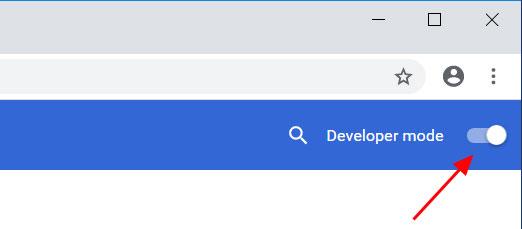 Enable developer mode in Chrome