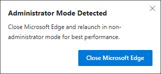 Administrator Mode Detected Alert
