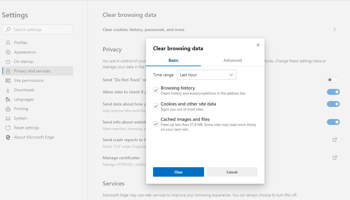 Microsoft Edge to Make it Easier to Clear Your Browsing Data
