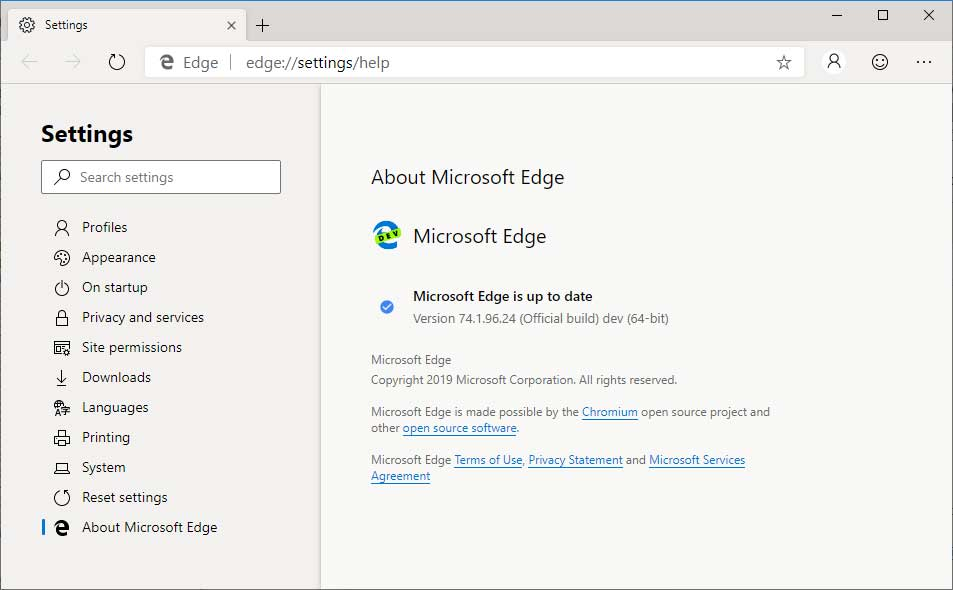 The Chromium-Based Microsoft Edge Browser Is Now Available