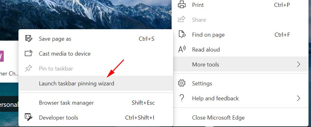 Launch the Taskbar Pinning Wizard