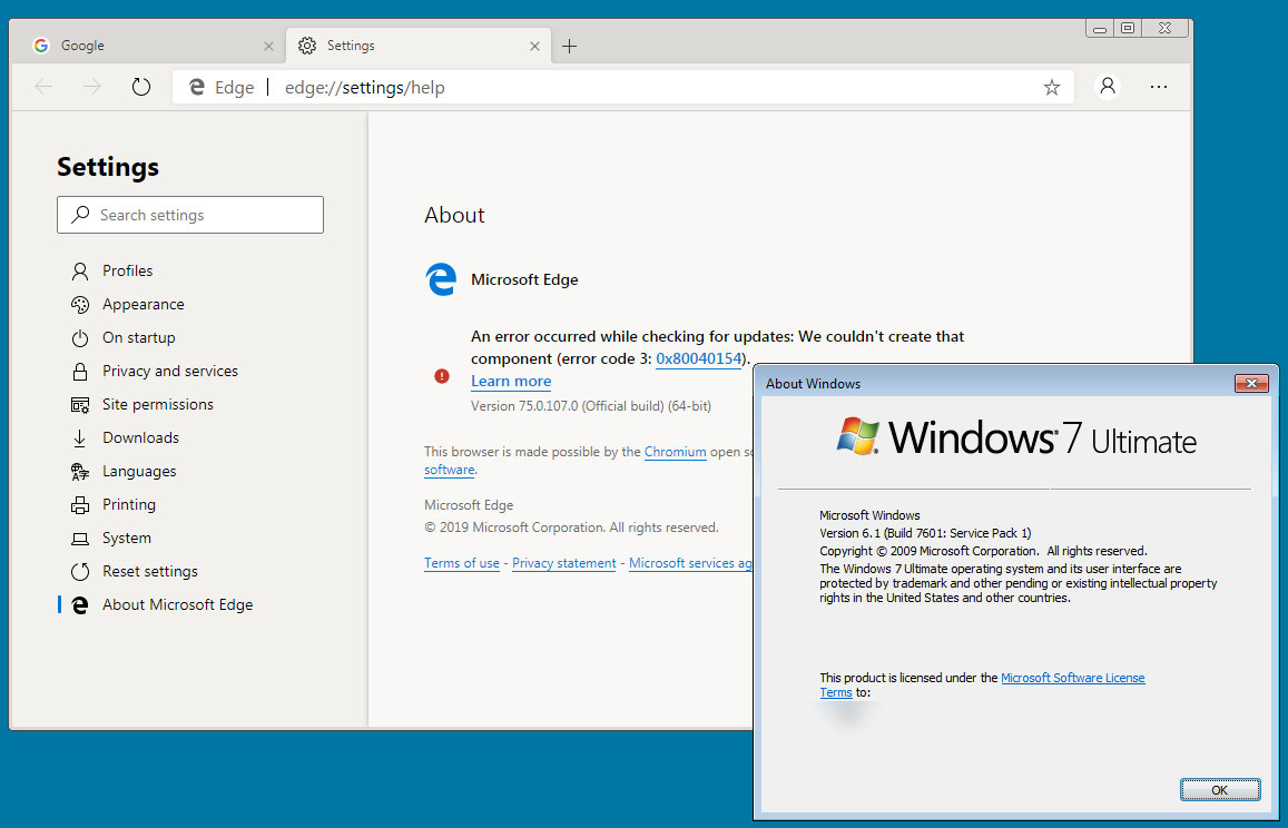 Microsoft's Leaked Edge Insider Browser Works on Windows 7