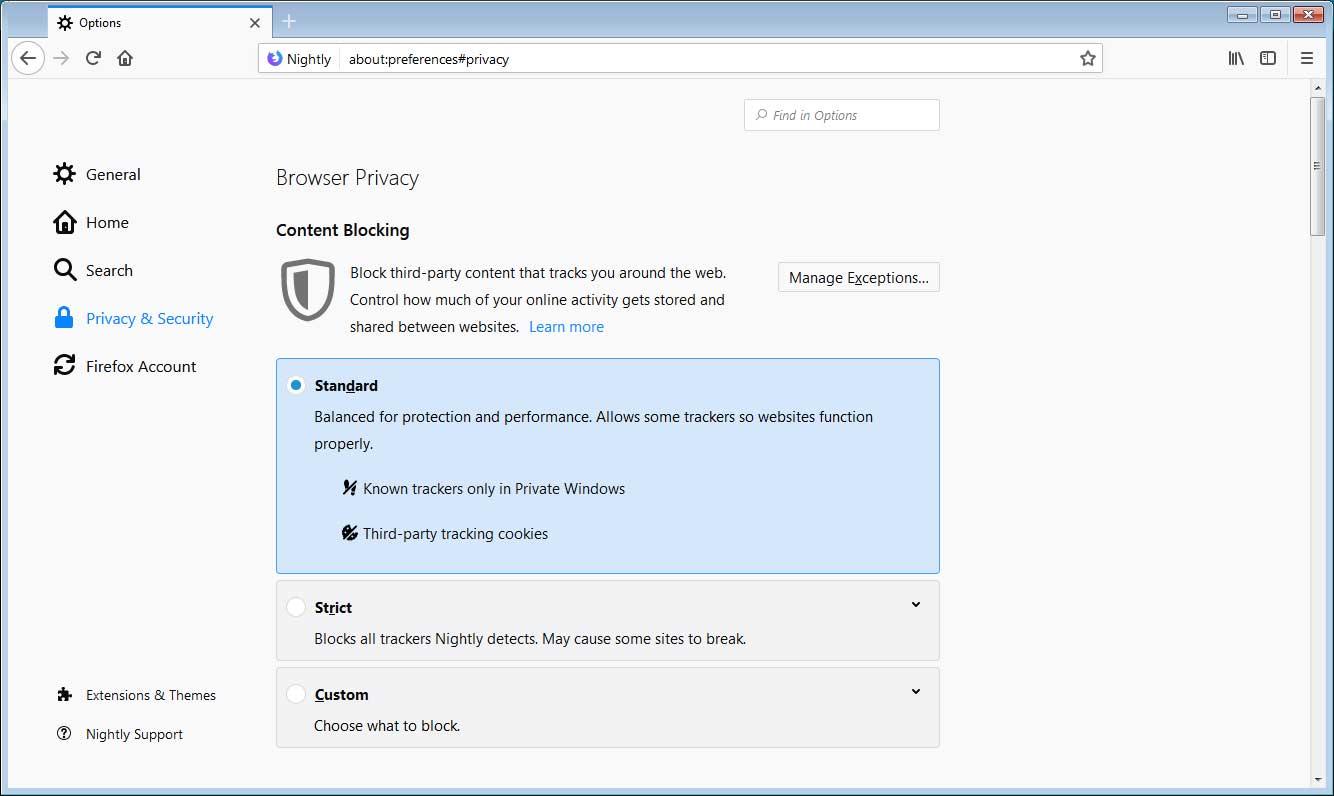Mozilla Overhauls Content Blocking Settings in Firefox 65