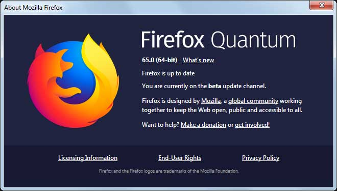 Firefox 65 Released with Updated Content Blocking, MSI Installers