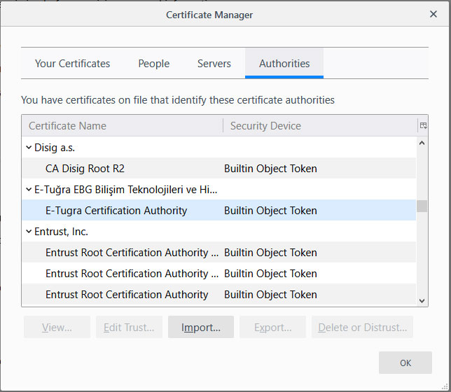 Firefox to Import Windows Root Certs To Avoid Antivirus SSL Scanning
