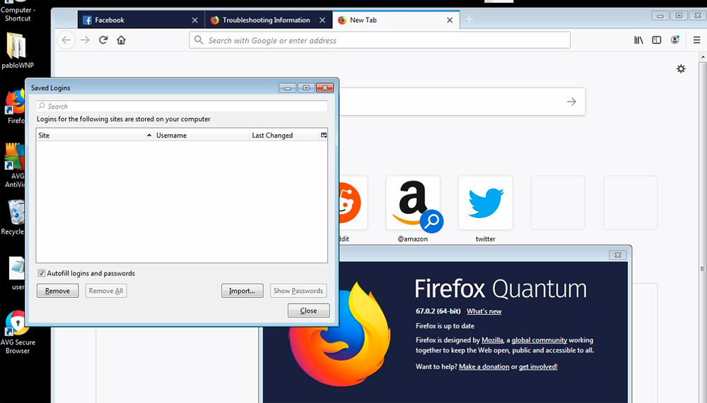 AVG Password Protection Blocked Firefox's Access to Saved Passwords