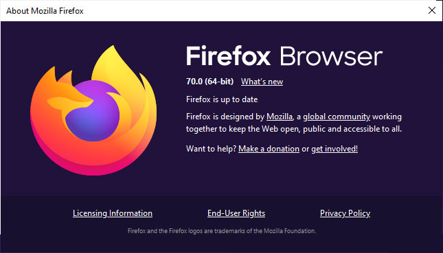 Firefox 70 is out with social media trackers blocked by default