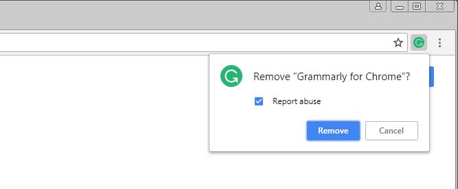 Report Abuse when removing Chrome Extension