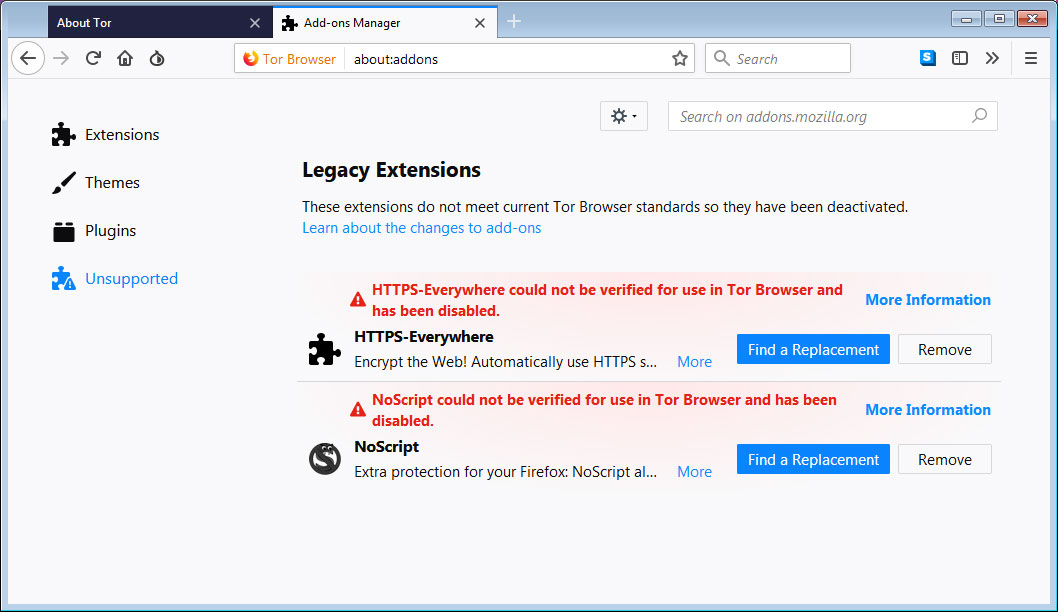 removing tor browser гирда